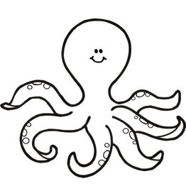 DRS Designs Happy Octopus Cling Stamp