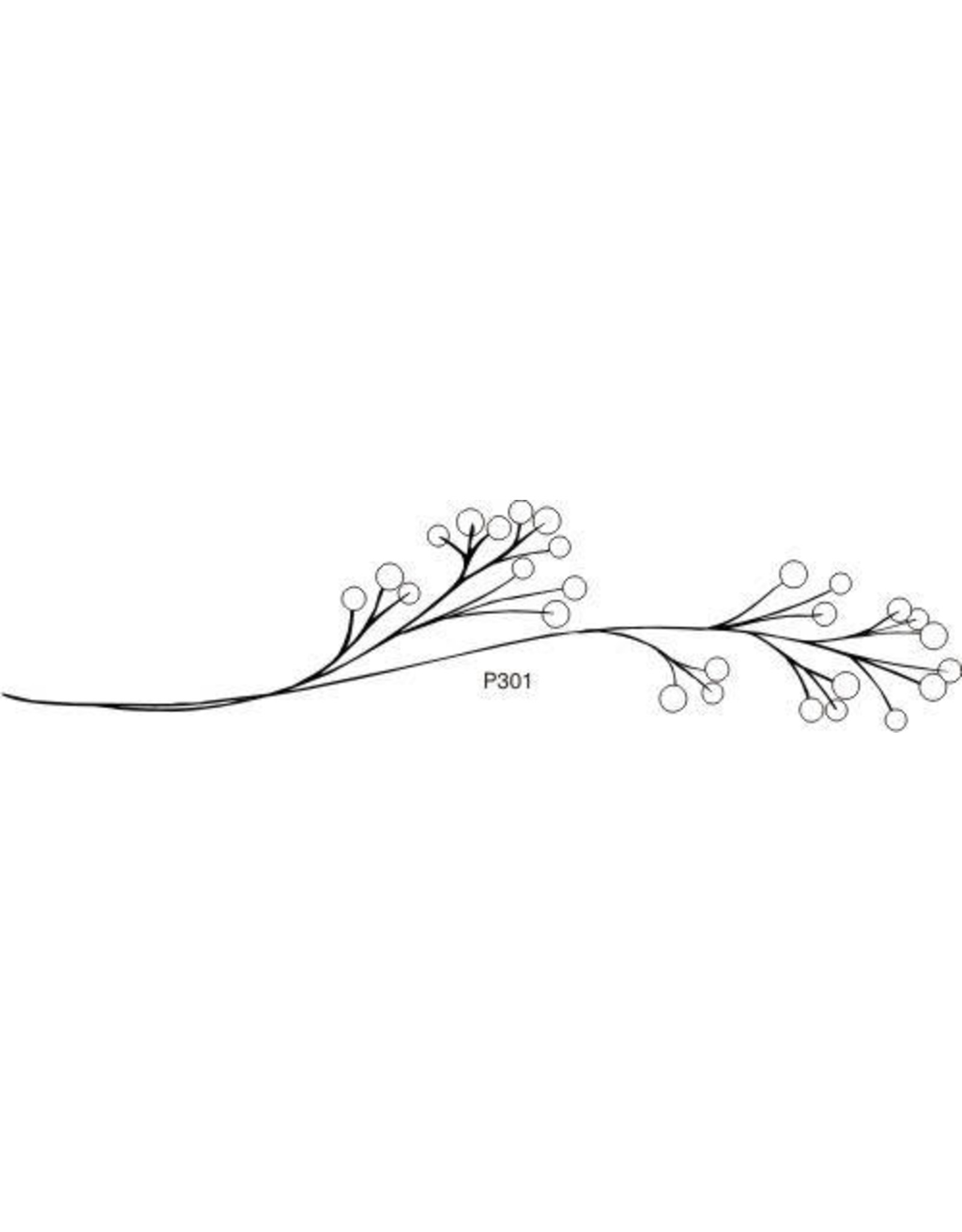 DRS Designs Simple Berry Branch Cling Stamp