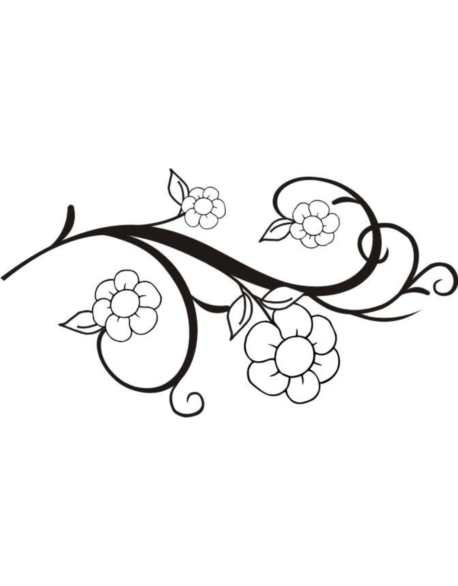 DRS Designs Flower Scroll Cling Stamp