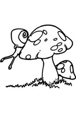 DRS Designs Snail Toadstool Cling Stamp