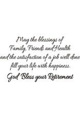 DRS Designs God Bless Retirement Greeting Cling Stamp