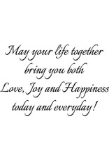 DRS Designs Life Together Happiness Greeting Cling Stamp