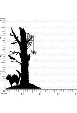 DRS Designs Silhouette Halloween 3 in 1 Tree Cling Stamp