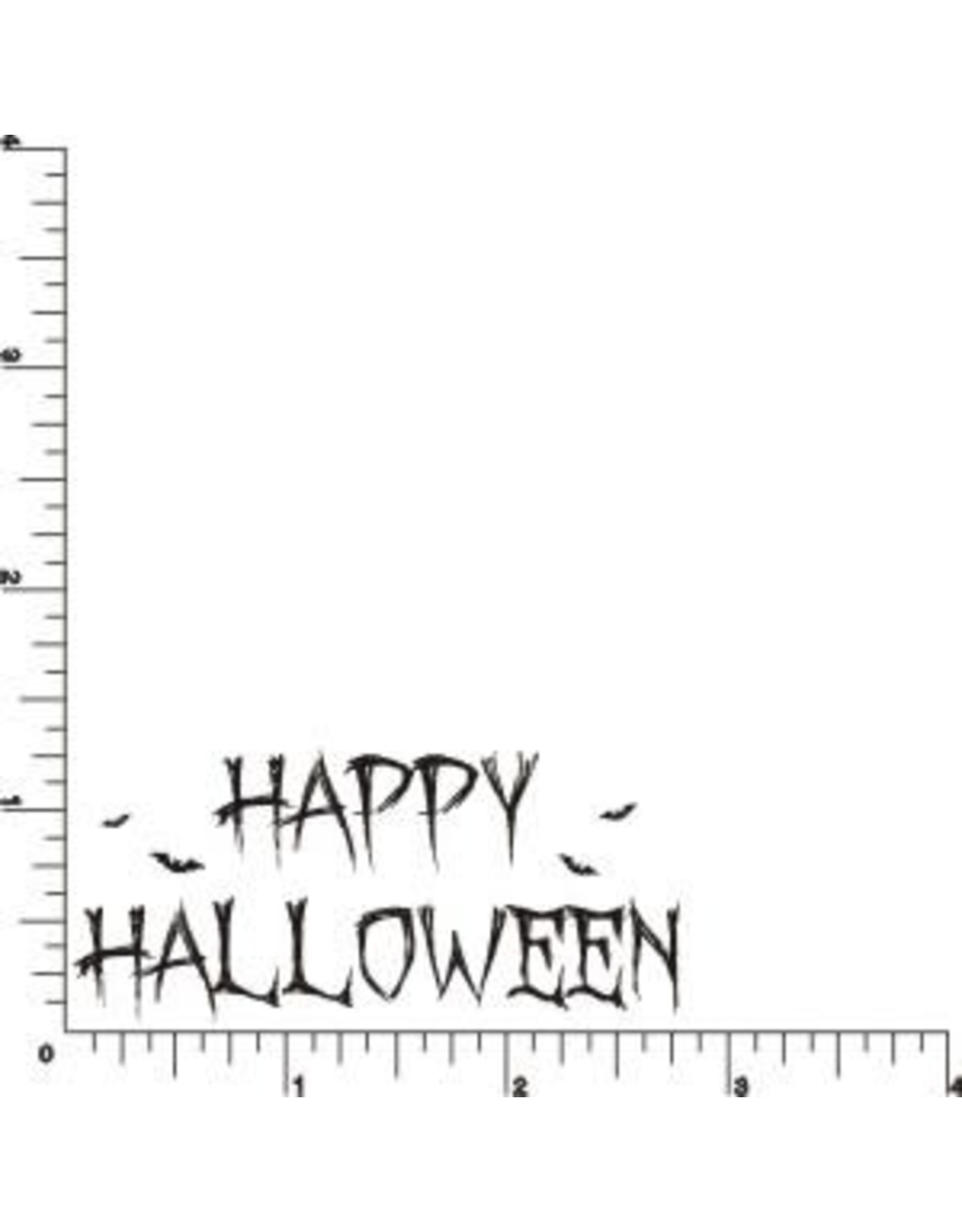 DRS Designs Batty Happy Halloween Cling Stamp