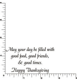 DRS Designs Good Thanksgiving Greeting Cling Stamp