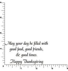 DRS Designs Good Thanksgiving Greeting Cling Stamp