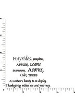 DRS Designs Hayrides Harvest Greeting Cling Stamp