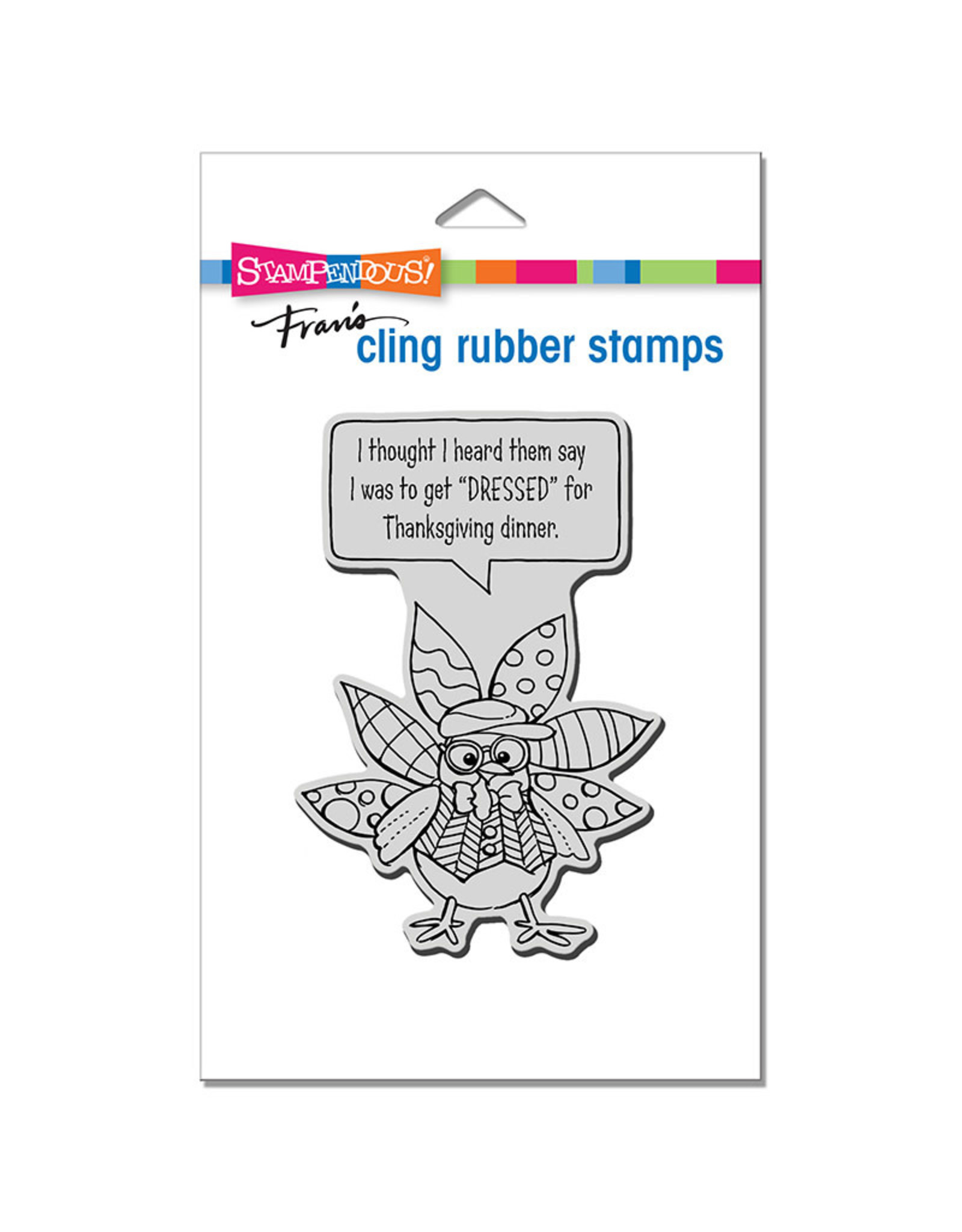 Stampendous Dressed Turkey Cling Stamp