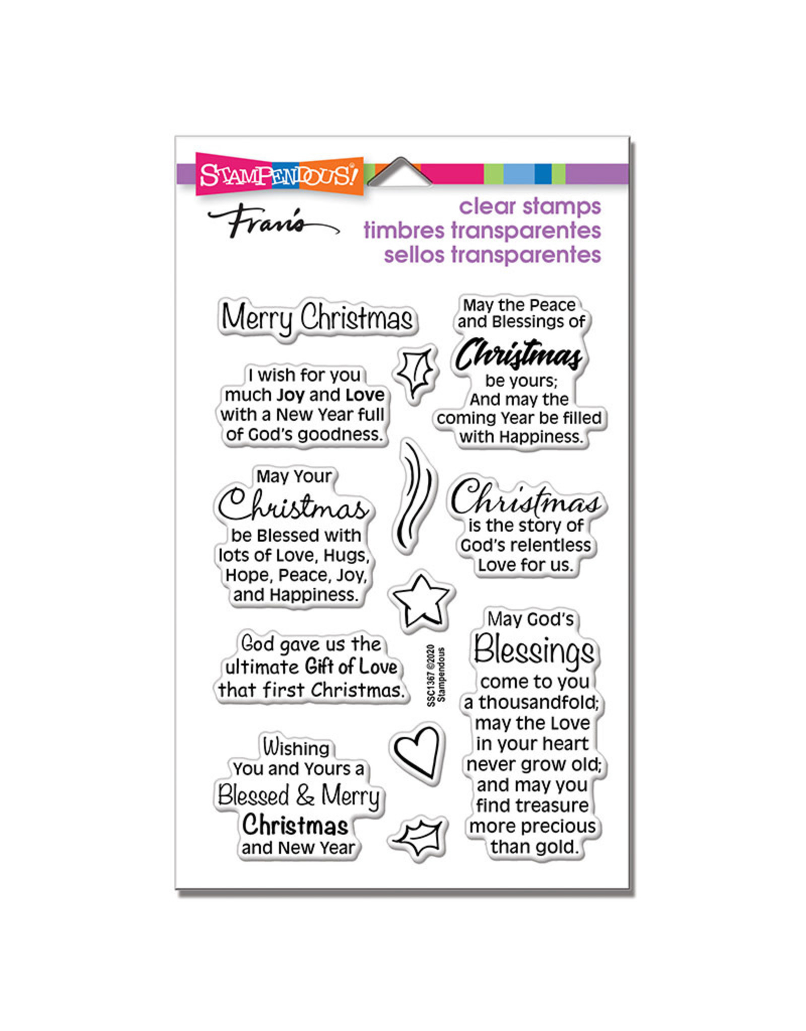 Stampendous Blessed Christmas Clear Stamp Set