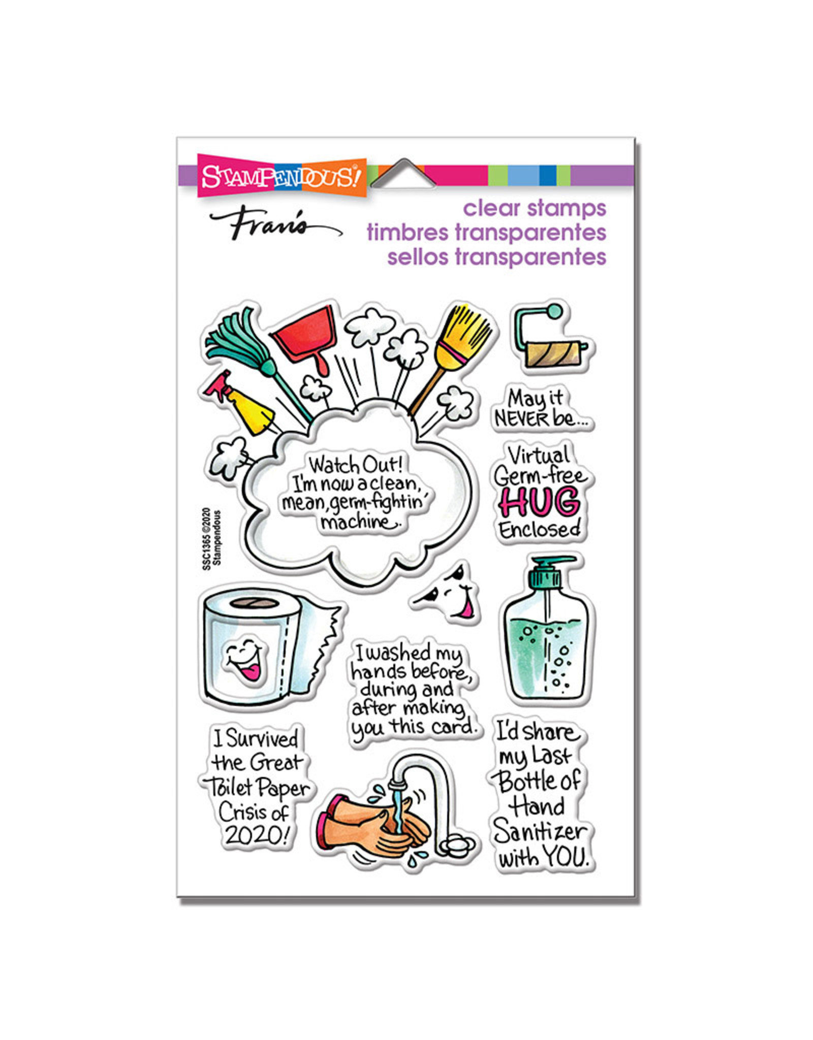 Stampendous Survived 2020 Clear Stamp Set