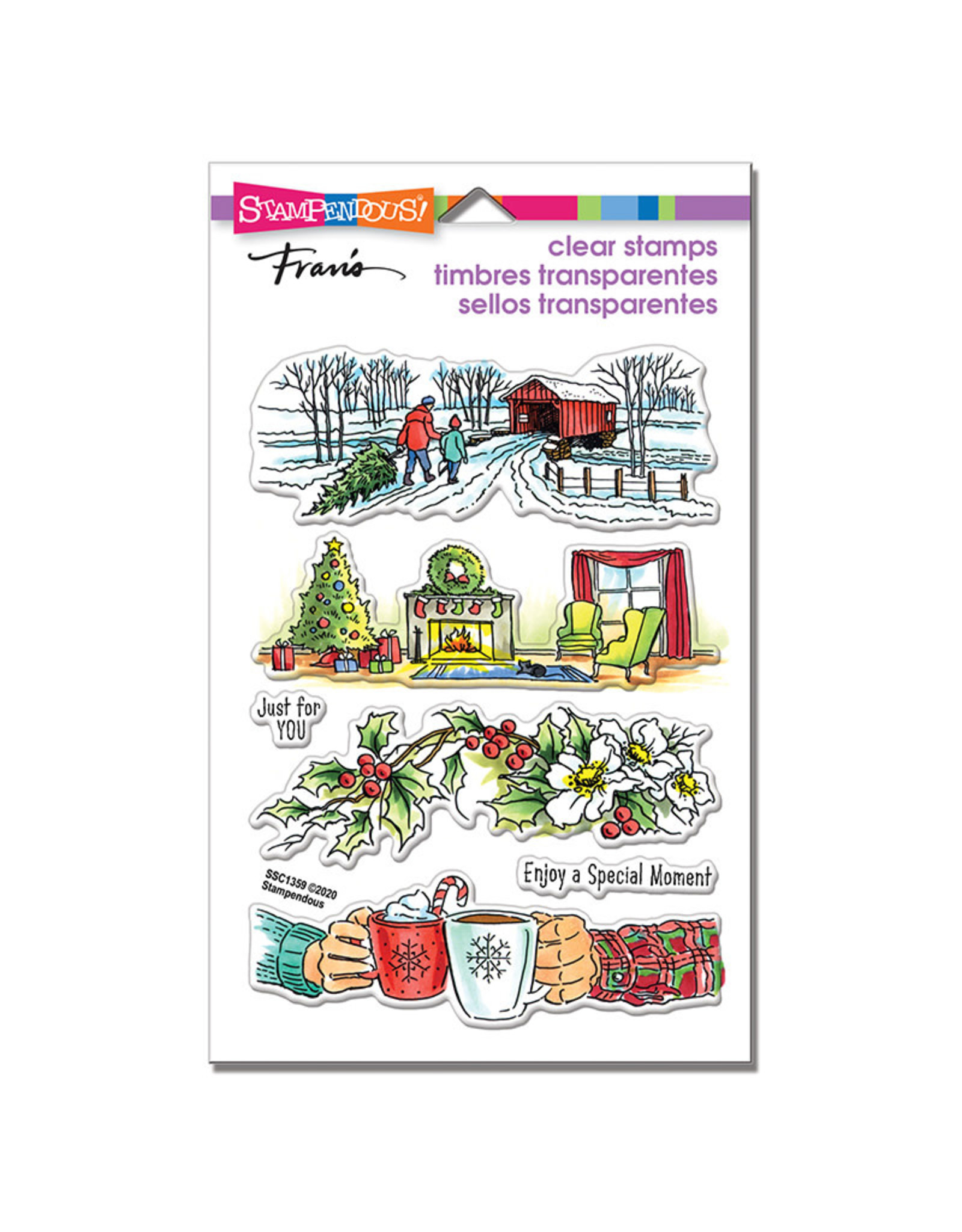 Stampendous Holiday Gift Clear Stamp Set