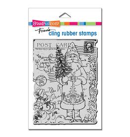Stampendous Postcard Santa Cling Stamp