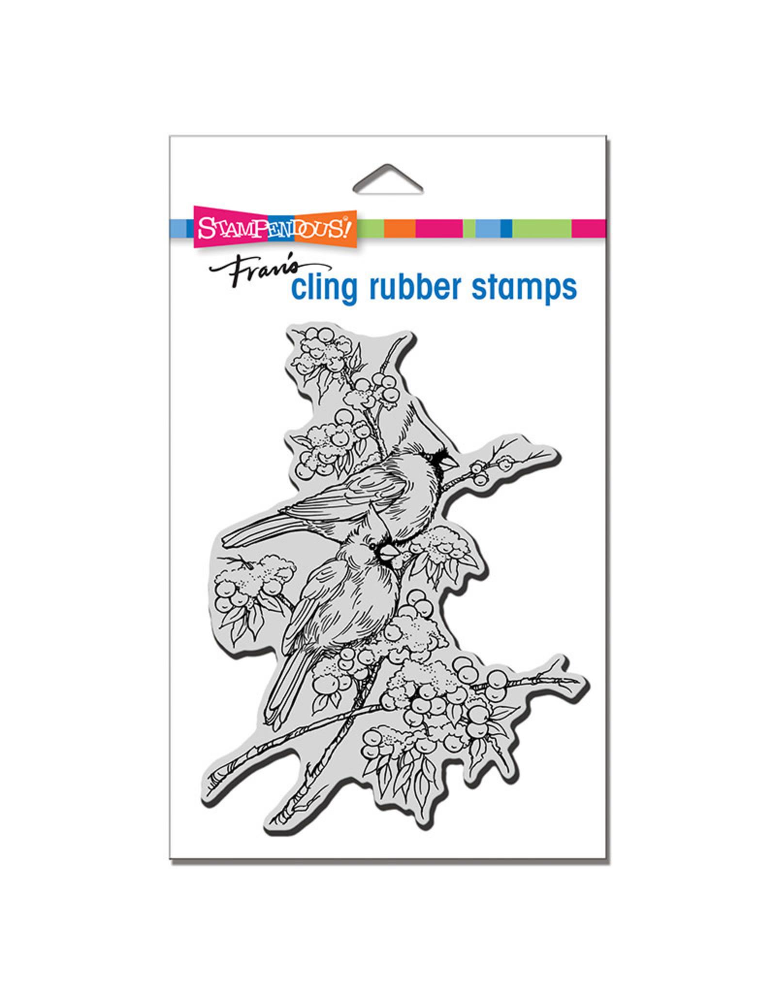 Stampendous Cardinal Pair Cling Stamp