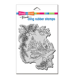 Stampendous Pine Cabin Cling Stamp