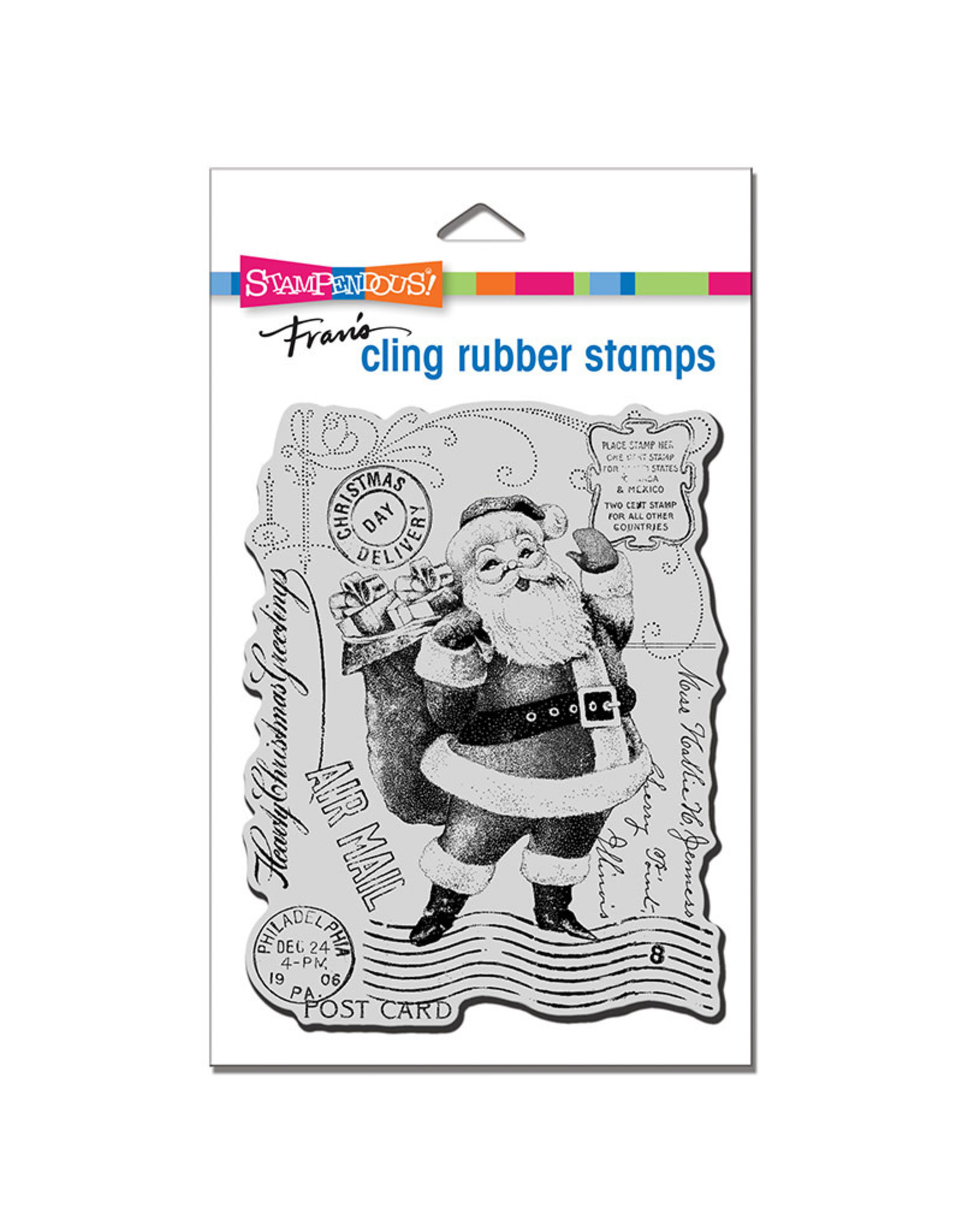 Stampendous Santa Post Cling Stamp