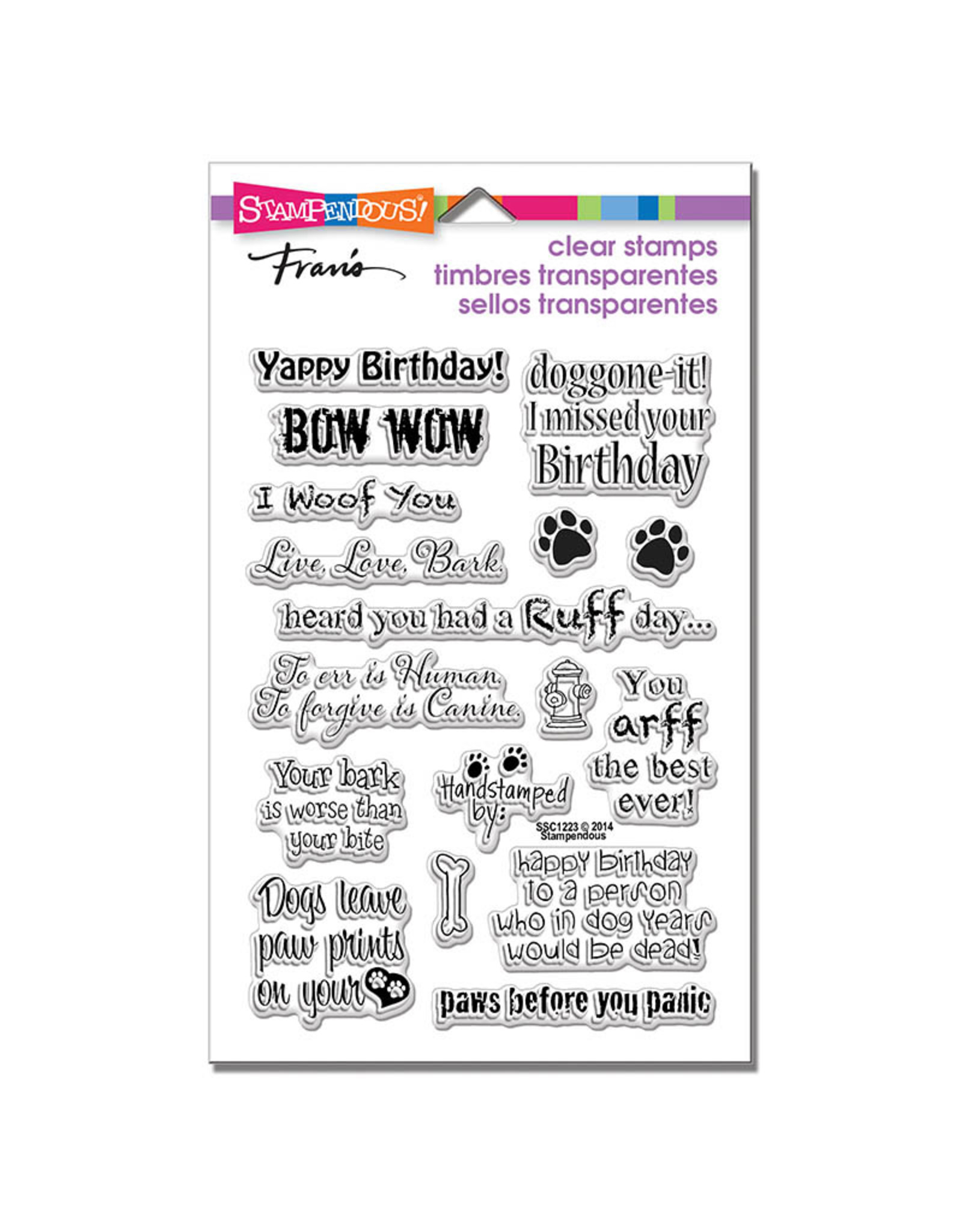 Stampendous Dog Sayings Clear Stamp Set