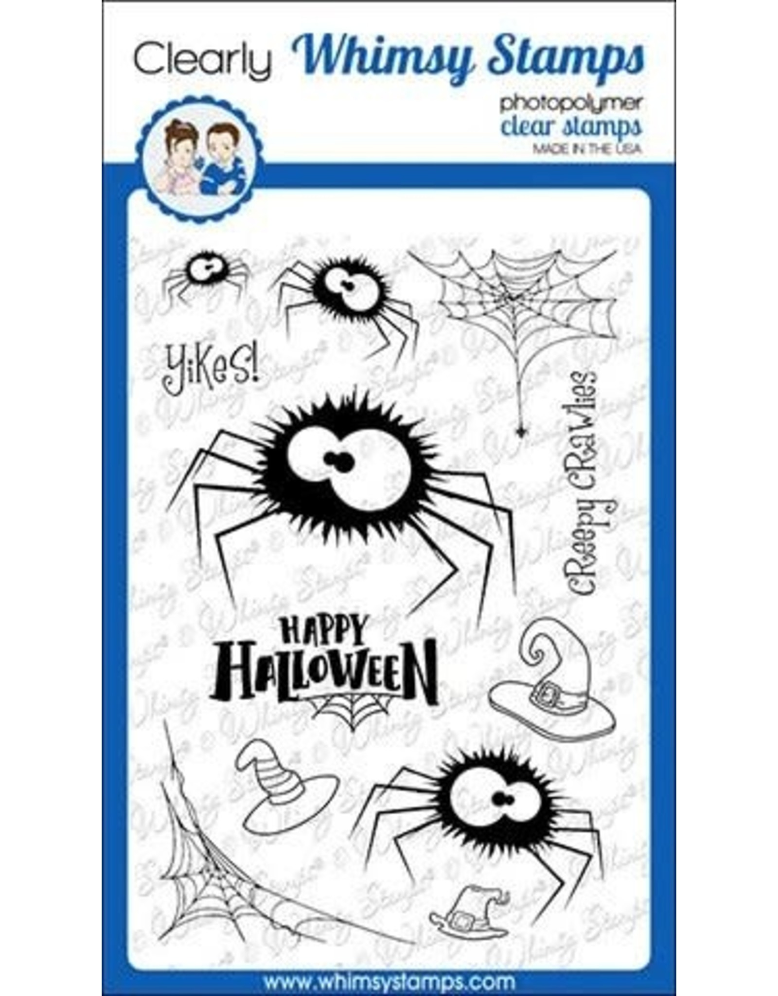 Whimsy Stamps Fuzzy Spiders Clear Stamps