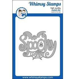 Whimsy Stamps Spooky Large Word Die
