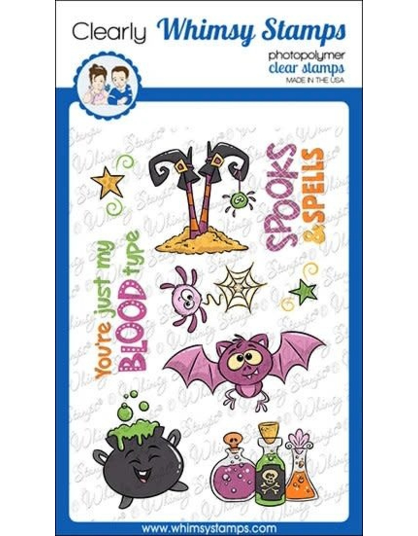 Whimsy Stamps Spooks and Spells Clear Stamps