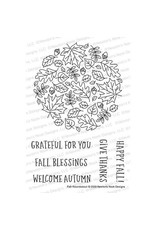 Newton's Nook Fall Roundabout Clear Stamp Set