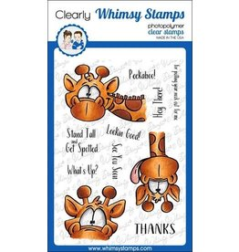 Whimsy Stamps Giraffes Peeking Clear Stamps