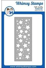 Whimsy Stamps Slimline Stars Background Die