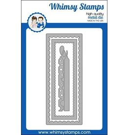 Whimsy Stamps Slimline Birthday Scallops Die