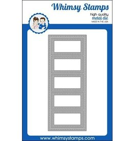 Whimsy Stamps Slimline Five Frames Die