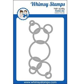 Whimsy Stamps Slimline Connected Bubbles Die