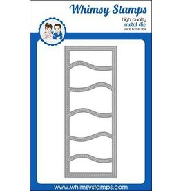 Whimsy Stamps Slimline Waves Die