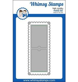 Whimsy Stamps Slimline Scallop Peekaboo 1 Die