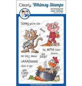 Whimsy Stamps Get Well Clear Stamp Set