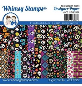 Whimsy Stamps Sugar Skulls 6x6 Paper Pack