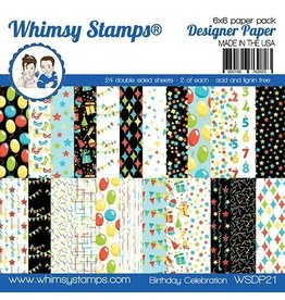 Whimsy Stamps Birthday Celebration 6x6 Paper Pack