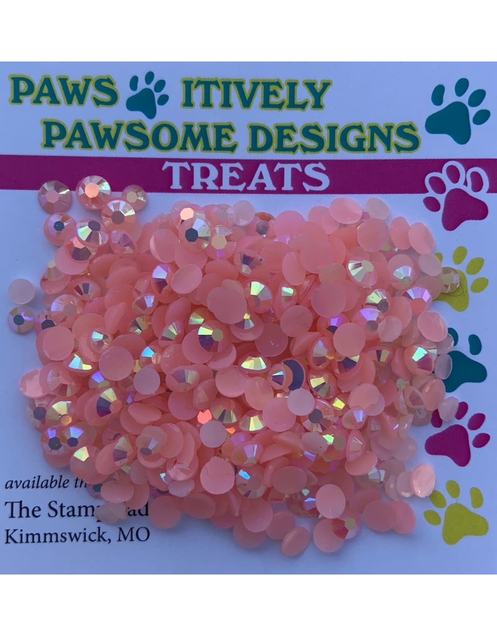 Paws-Itively Pawsome Designs Dazzles - Coral