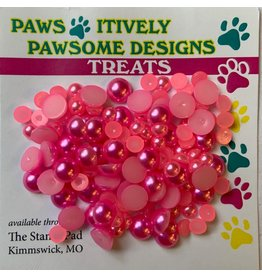 Paws-Itively Pawsome Designs Pearlies - Hot Pink (6mm)