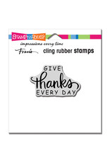 Stampendous Daily Thanks Cling Stamp