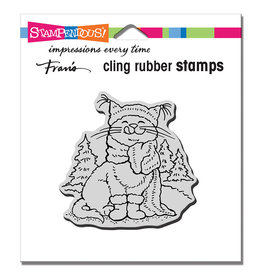 Stampendous Scarf Kitty Cling Stamp