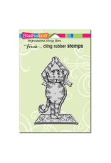 Stampendous Yoga Cat Cling Stamp