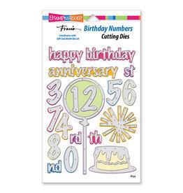 Stampendous Birthday Numbers Die Set