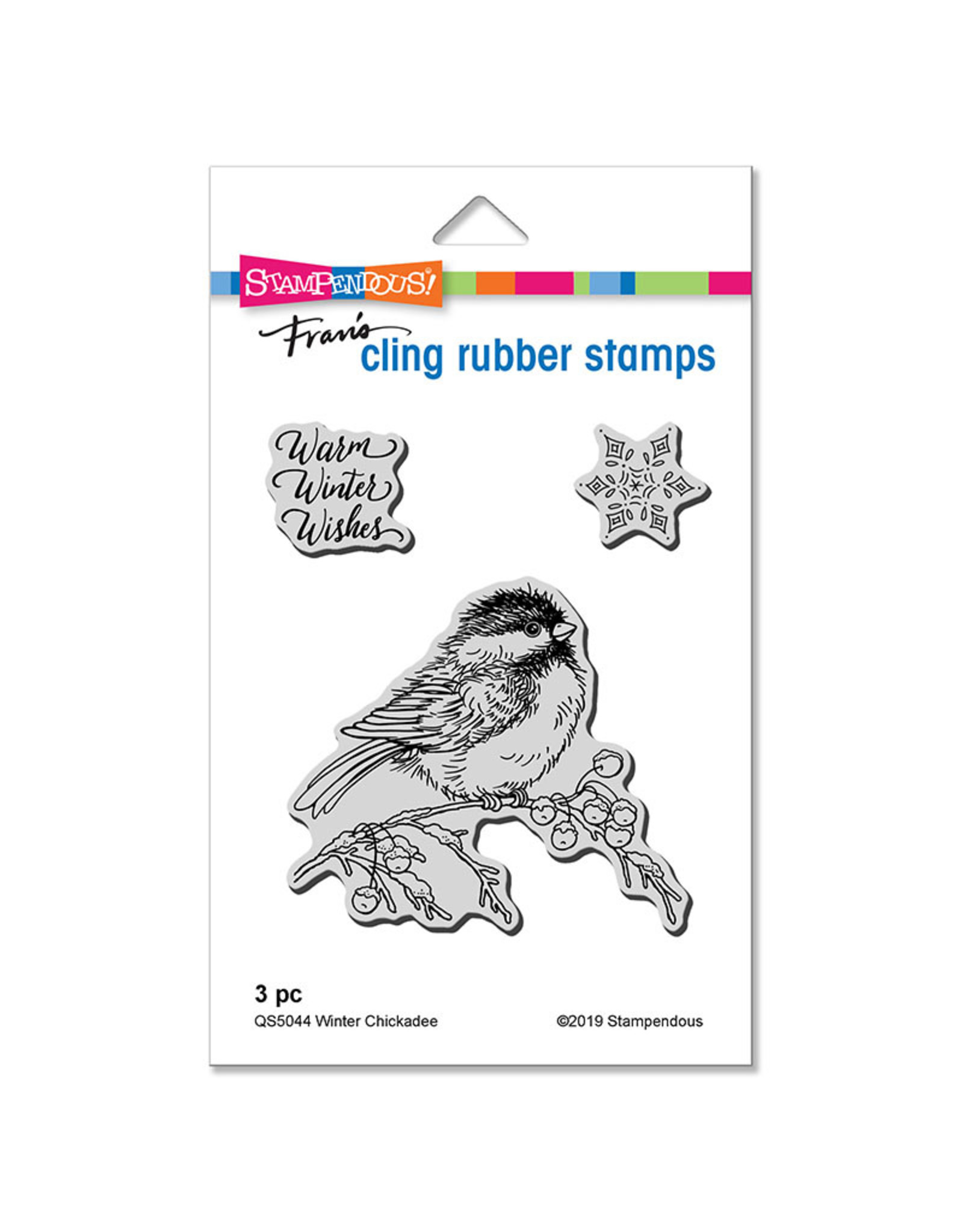 Stampendous Winter Chickadee Cling Stamp Set