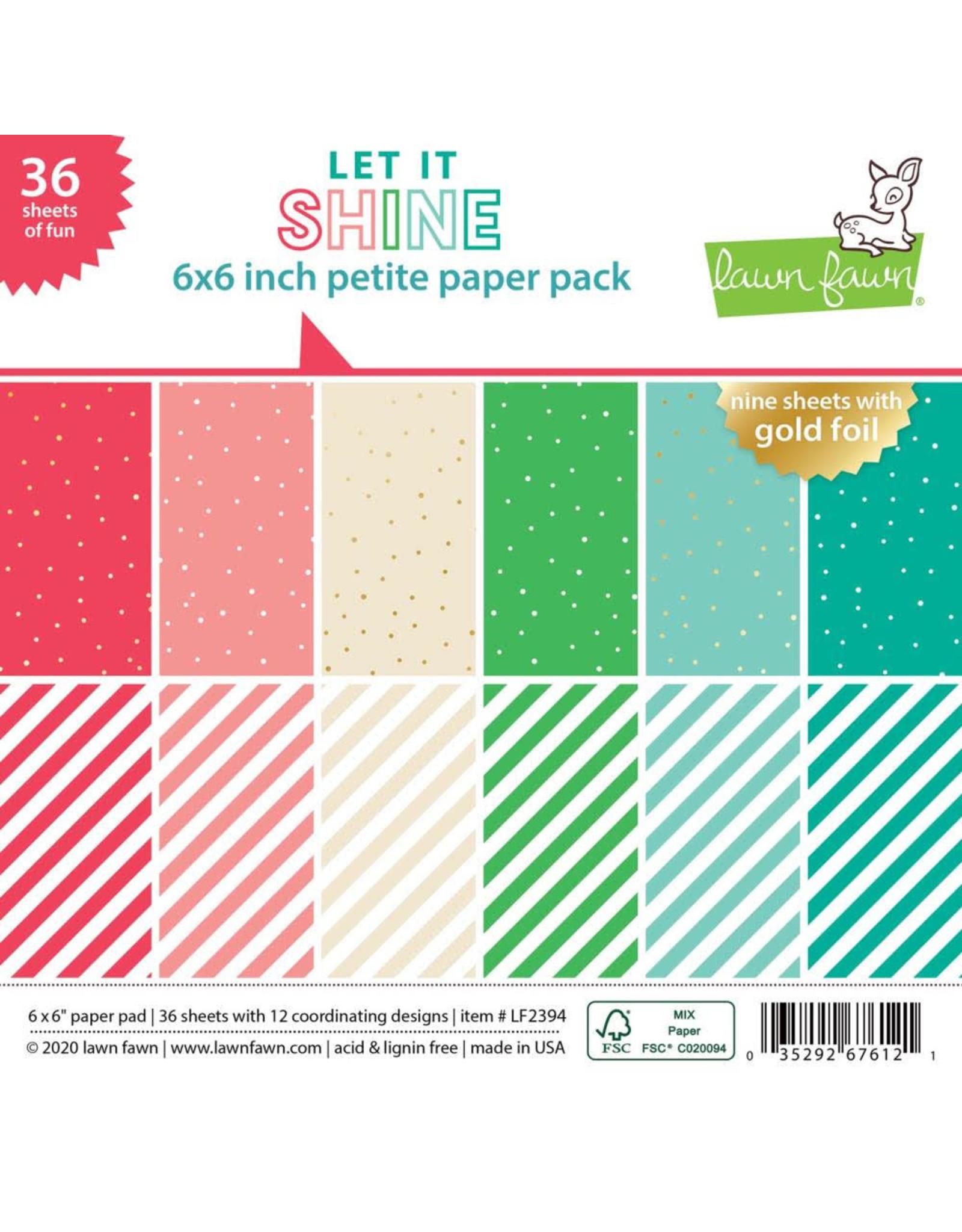 Lawn Fawn Let It Shine 6x6 Petite Paper Pack