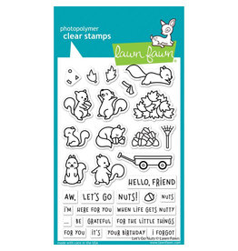 Lawn Fawn Let's Go Nuts Clear Stamp Set
