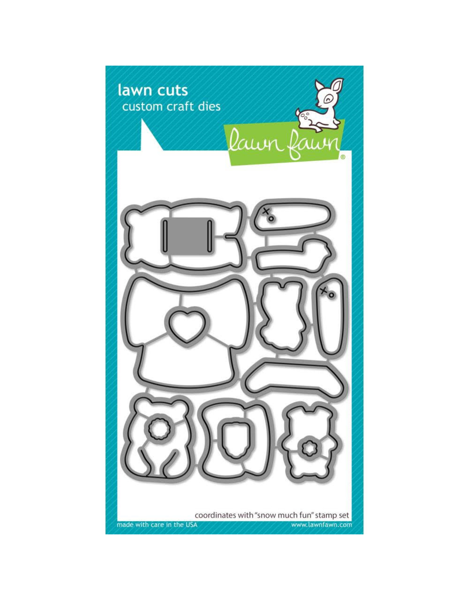 Lawn Fawn Snow Much Fun Clear Stamp Set