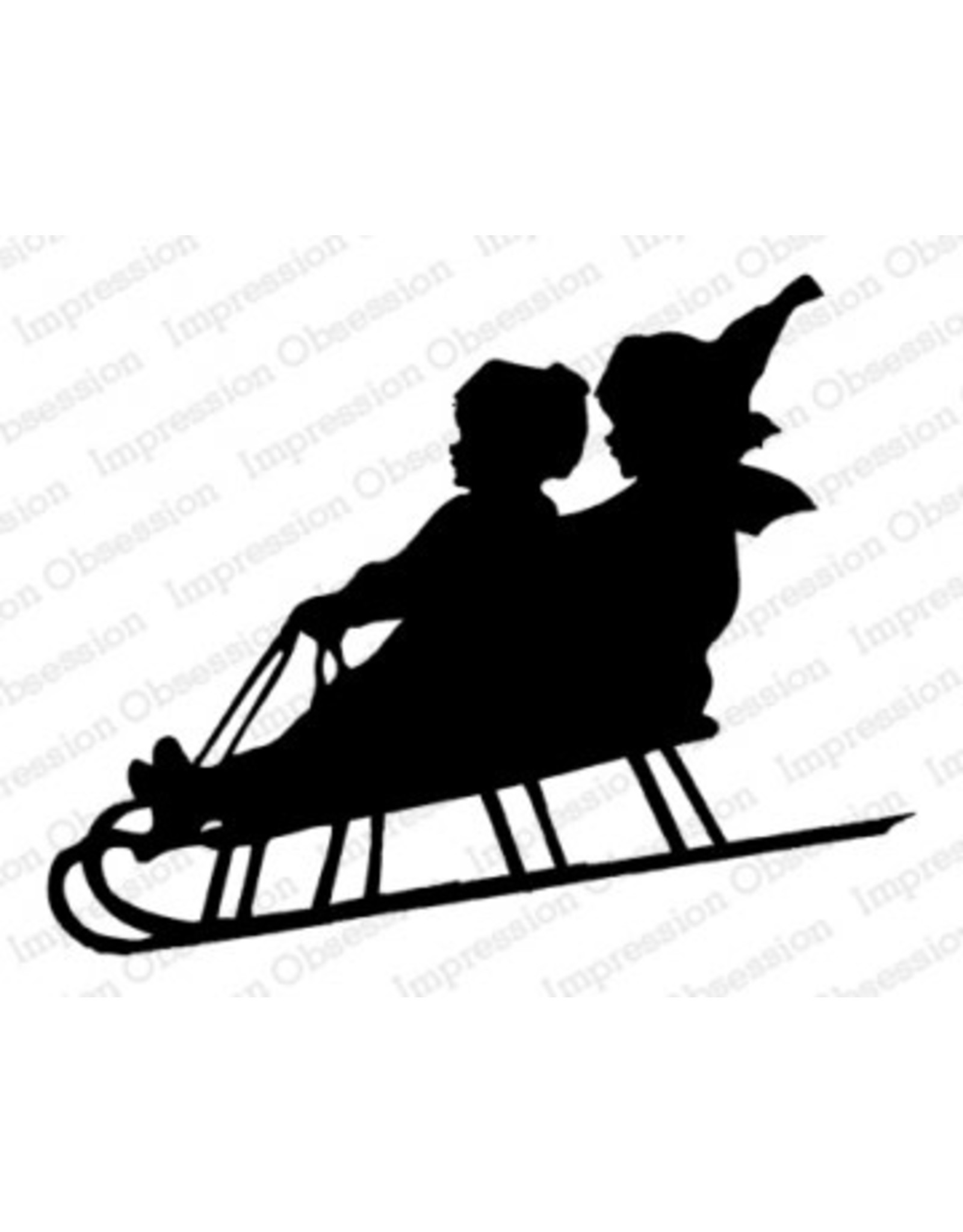 Impression Obsession Sled Silhouette Clling Stamp
