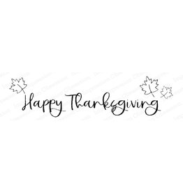 Impression Obsession Happy Thanksgiving Cling Stamp