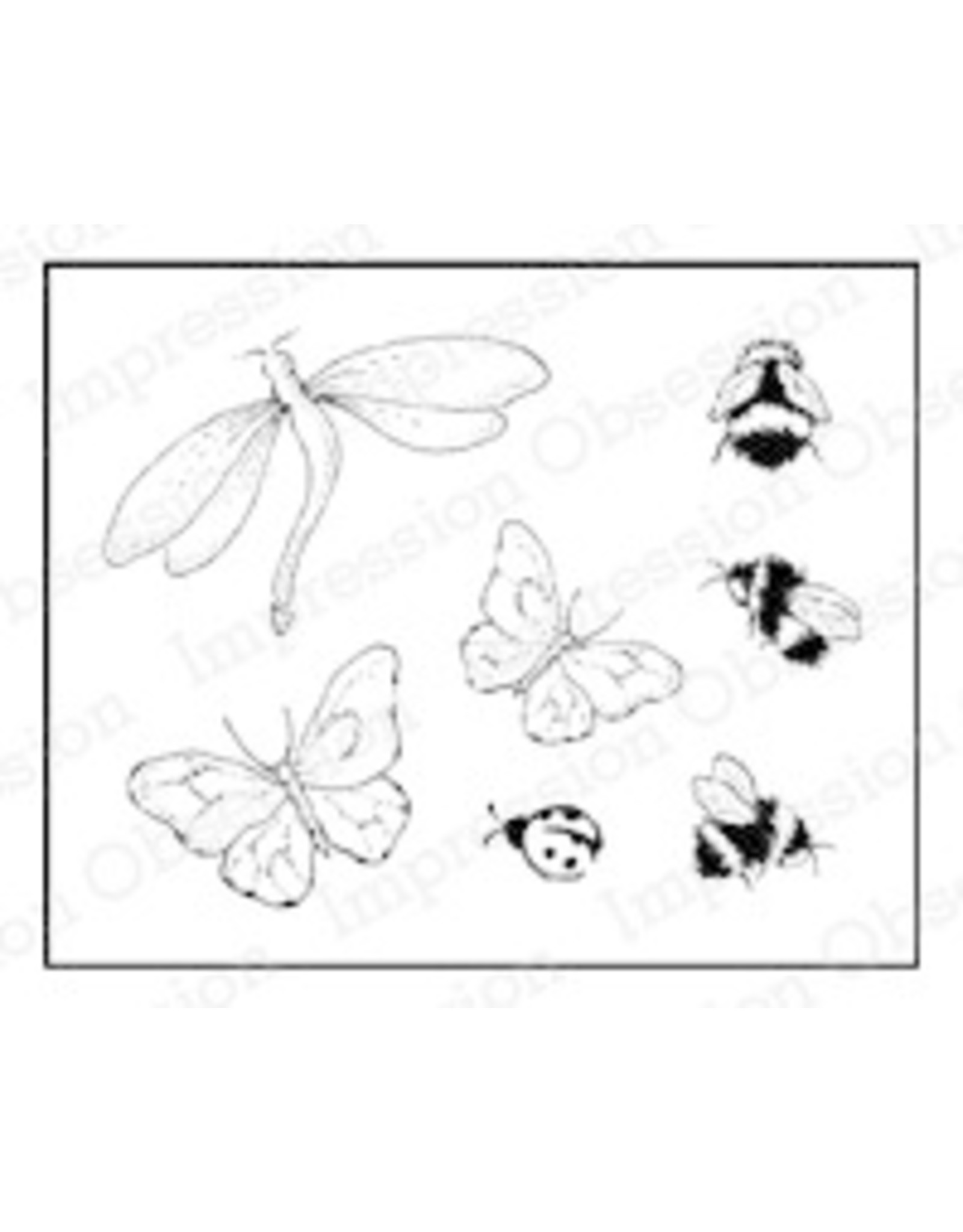 Impression Obsession Insect Set Cling Stamp