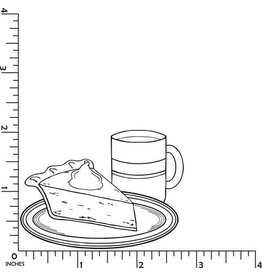 DRS Designs Pie and Coffee Cling Stamp