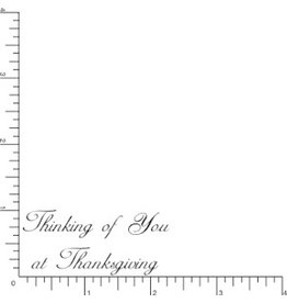 DRS Designs Thanksgiving Thinking Of You Cling