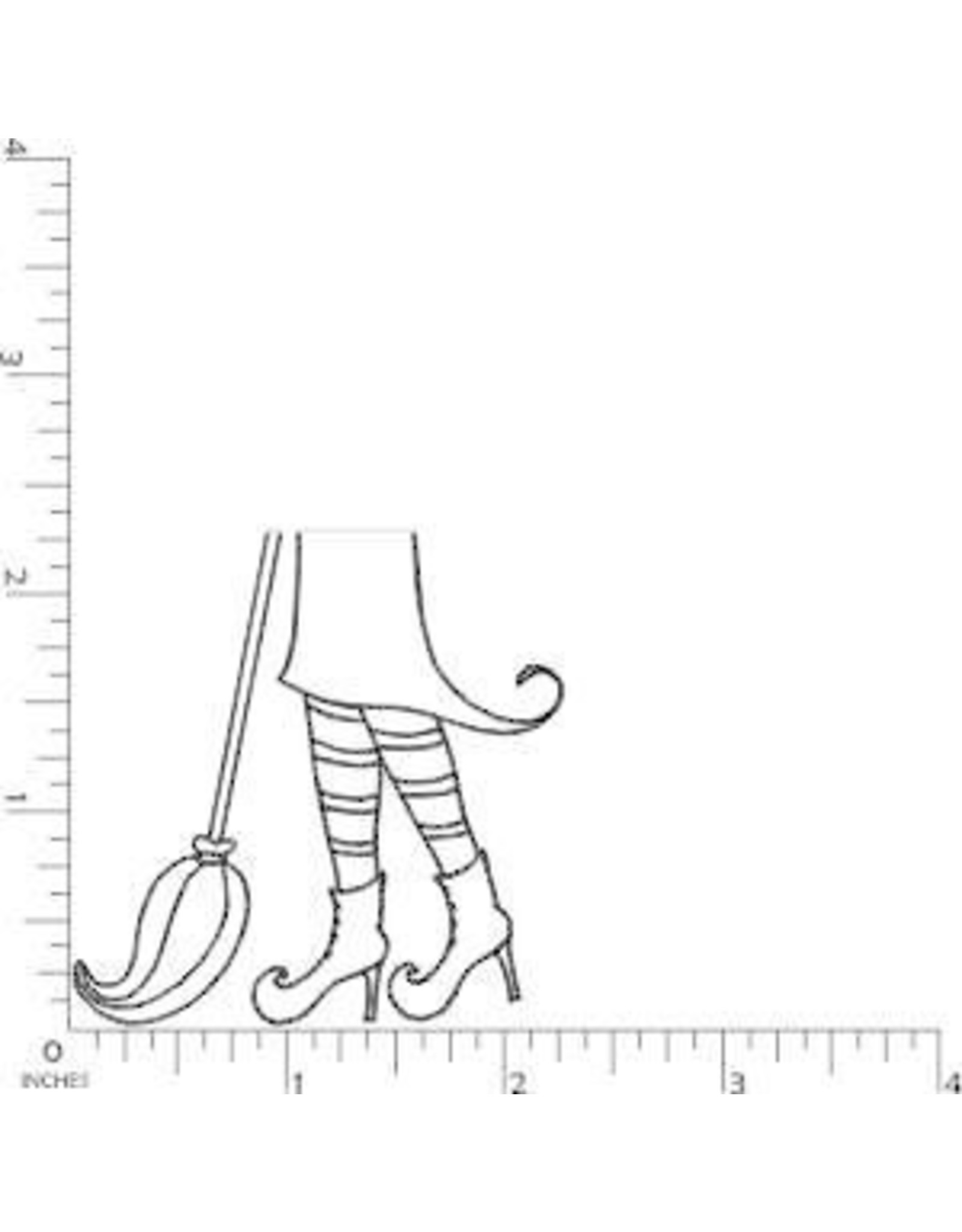DRS Designs Witch Feet? Cling Stamp